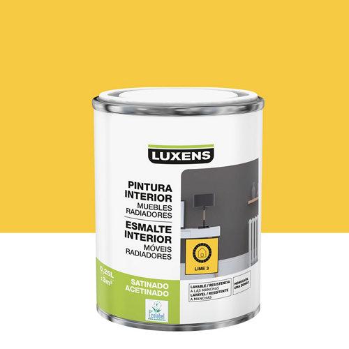 Esmalte de interior luxens lime 3 satinado 0,25l