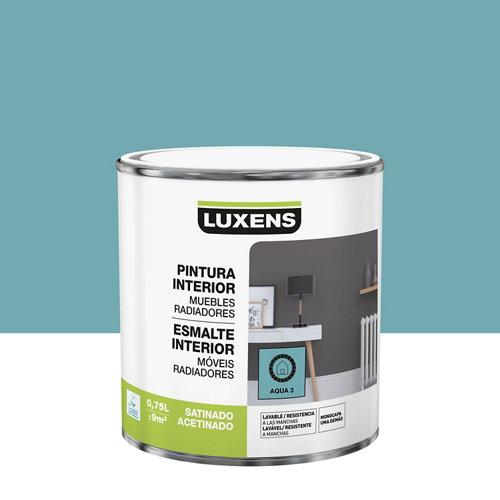 Esmalte de interior luxens aqua 3 satinado 0,75l