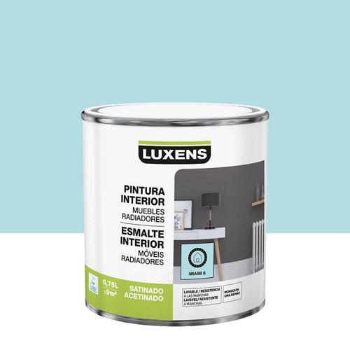 Esmalte de interior luxens miami 6 satinado 0,75l