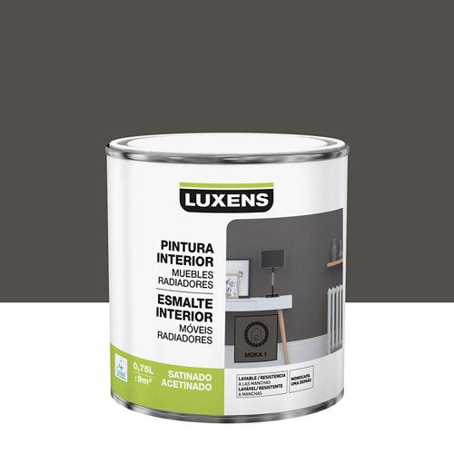 Esmalte de interior luxens moka 1 satinado 0,75l