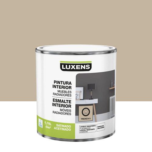 Esmalte de interior luxens trench 5 satinado 0,75l