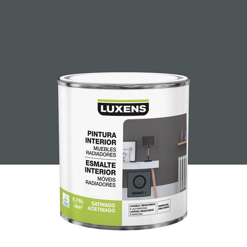 Esmalte de interior luxens granit 1 satinado 0,75l
