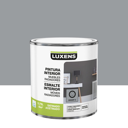 Esmalte de interior luxens granit 3 satinado 0,75l