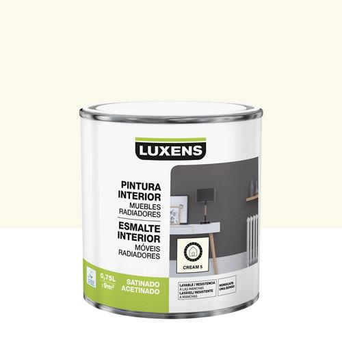 Esmalte de interior luxens satinado cream 5 0,75l