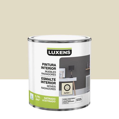 Esmalte de interior luxens paper 1 satinado 0,75l