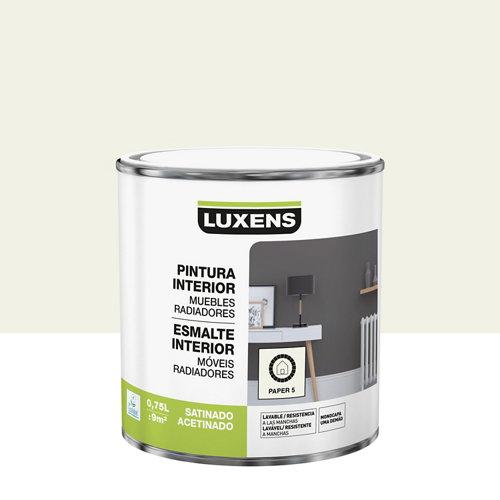 Esmalte de interior luxens paper 5 satinado 0,75l