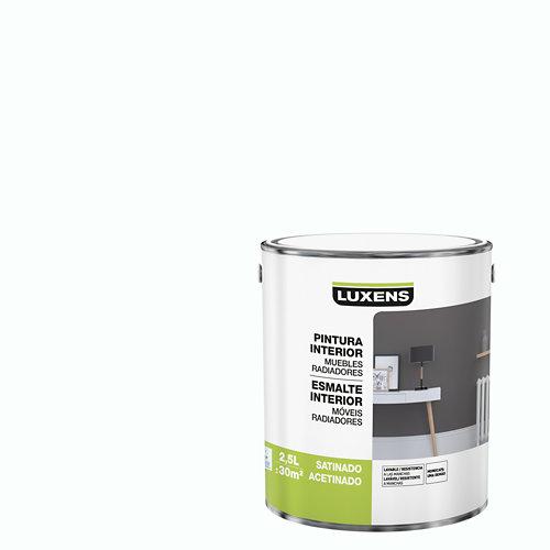 Esmalte de interior luxens blanco satinado 2,5l