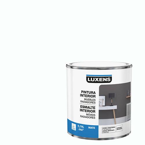 Esmalte de interior para muebles y radiadores mate luxens 750 ml blanco