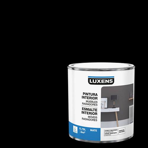 Esmalte de interior para muebles y radiadores mate luxens 750 ml negro
