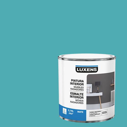 Esmalte de interior para muebles y radiadores mate luxens 750 ml aqua 3