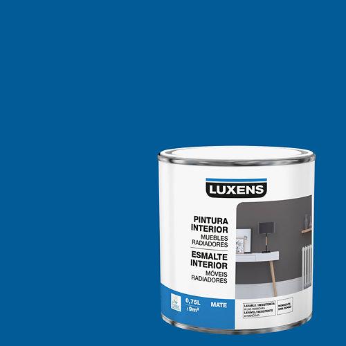 Esmalte de interior para muebles y radiadores mate luxens 750 ml saphir 2