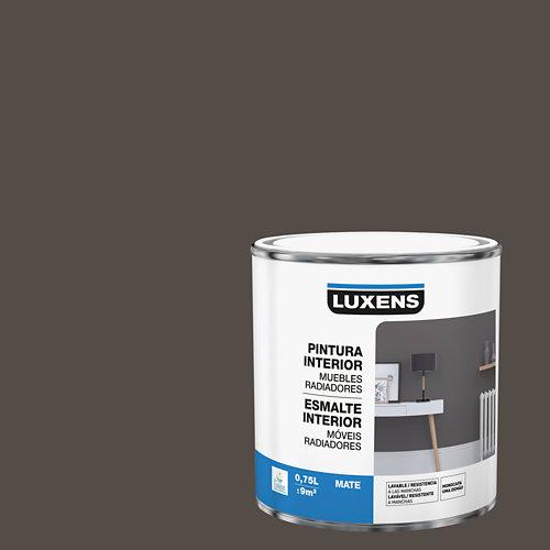 Esmalte de interior para muebles y radiadores mate luxens 750 ml moka 1
