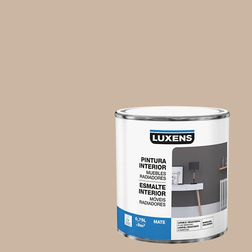 Esmalte de interior para muebles y radiadores mate luxens 750 ml trench 5