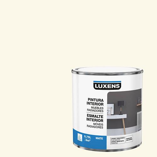 Esmalte de interior para muebles y radiadores mate luxens 750 ml cream 5