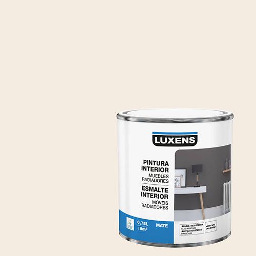 Esmalte de interior para muebles y radiadores mate luxens 750 ml paper 3