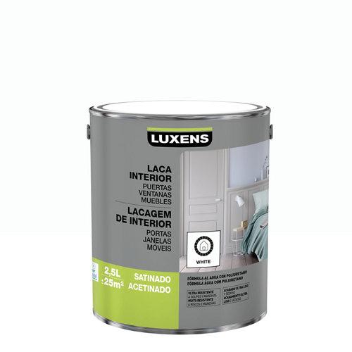 Esmalte laca interior luxens blanco satinado 2,5l