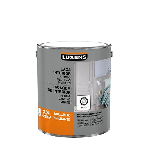 Esmalte laca interior luxens blanco brillo 2,5l