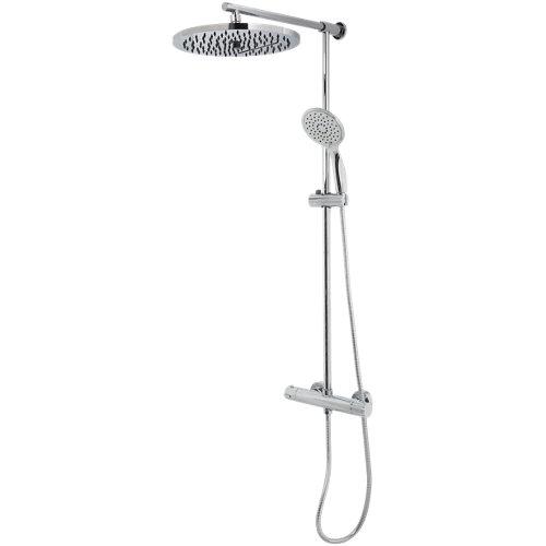 Columna ducha termostático edouard rousseau cascada gris