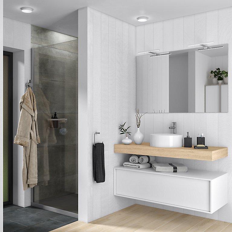 Cómo elegir iluminación para el baño · LEROY MERLIN