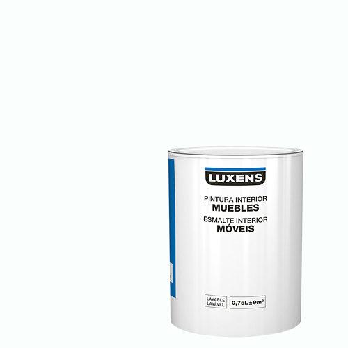 Esmalte para muebles luxens blanco mate 0,75l