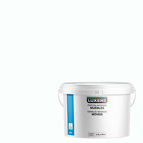 Esmalte para muebles luxens blanco mate 2,5l
