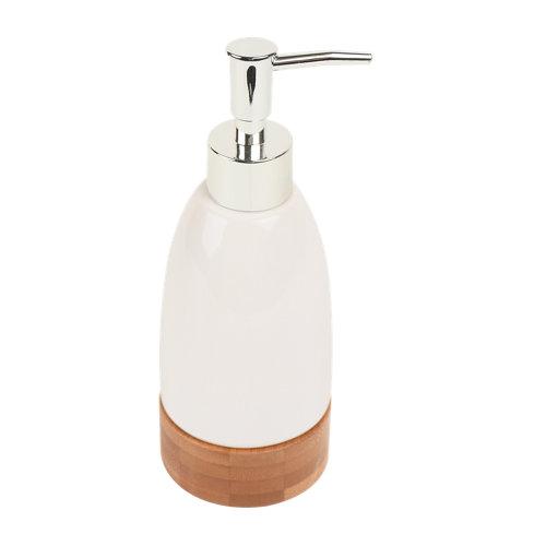 Dispensador de jabón tallin de cerámico blanco