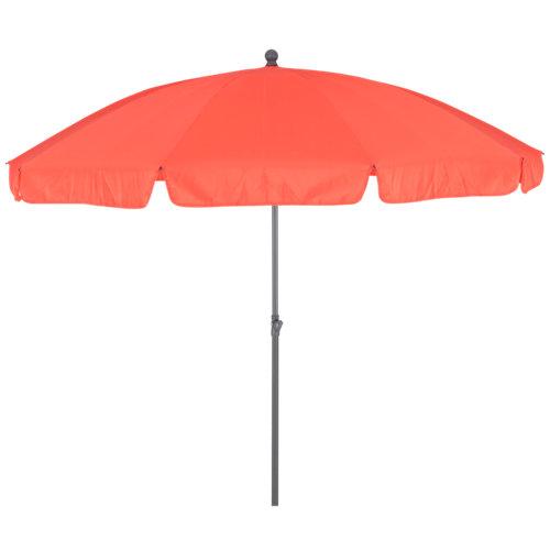Parasol redondo de acero naterial bigre coral ø250 cm