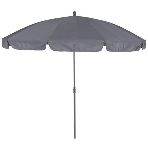 Parasol redondo de acero naterial bigre gris ø250 cm
