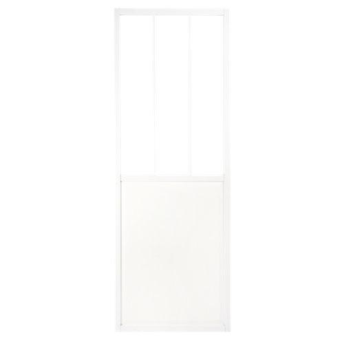 Puerta corredera de cristal atelier blanco de 73x204 cm (ancho x alto)
