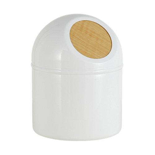Papelera baño scandi blanco 1l