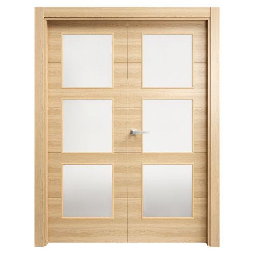 puerta berna roble de apertura derecha de 145 cm
