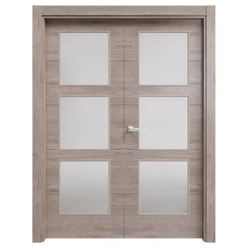 puerta berna gris de apertura derecha de 145 cm