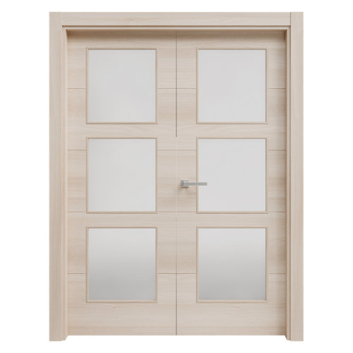 puerta berna acacia de apertura izquierda de 145 cm