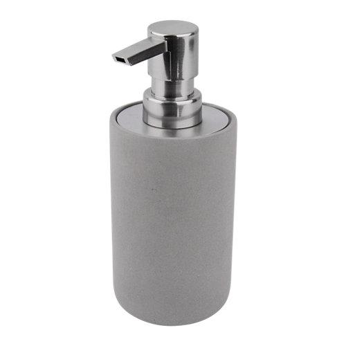 Dispensador de jabón de hormigón gris / plata