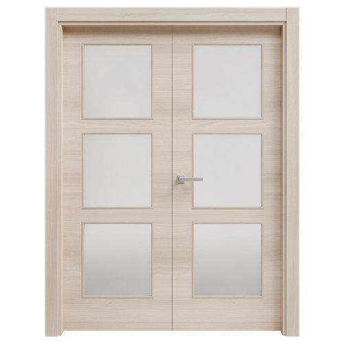 puerta oslo acacia de apertura izquierda de 82.5 cm