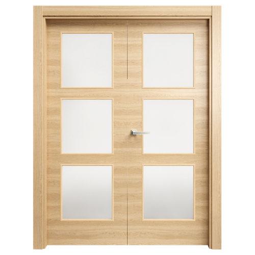 puerta oslo roble de apertura izquierda de 72.5 cm