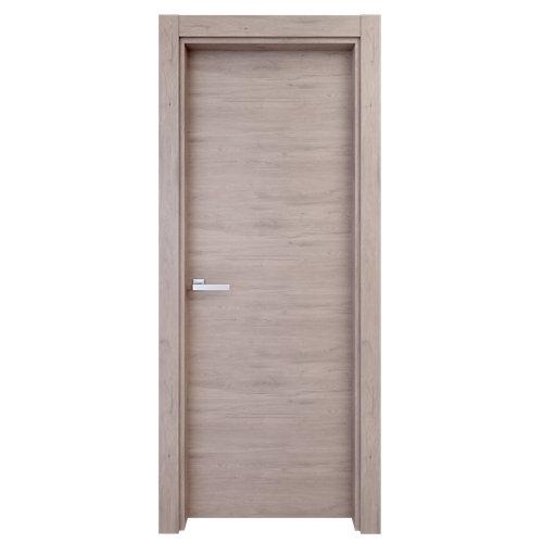 Puerta de interior oslo gris de apertura derecha de 72,5 cm