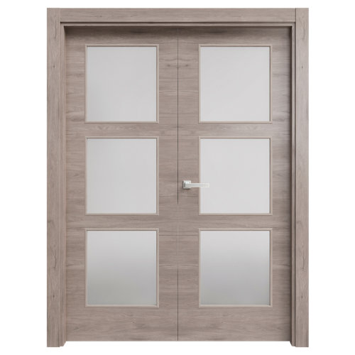 puerta oslo gris de apertura derecha de 62.5 cm