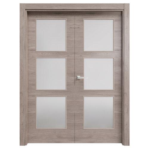 puerta oslo gris de apertura izquierda de 82.5 cm