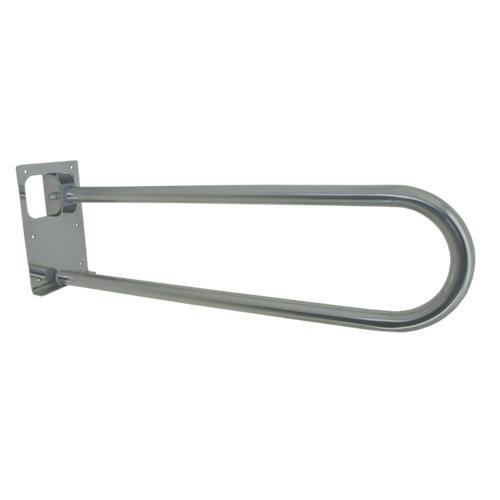 barra abatible y plegable para wc gris / plata 73x x73 cm