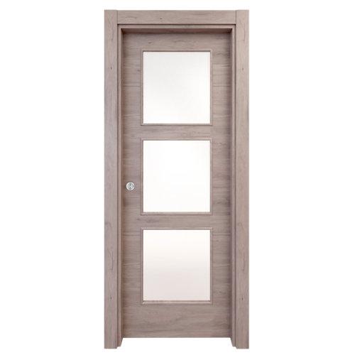 Puerta de interior corredera oslo gris de 82.5 cm