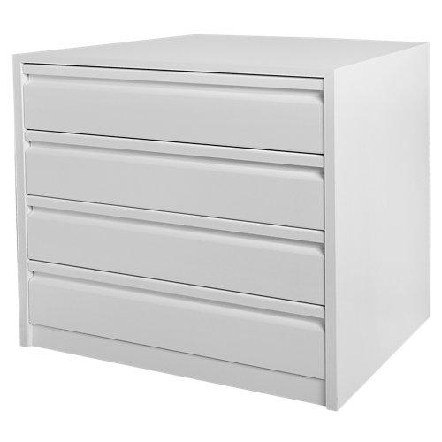 Cajonera 4 cajones serie montada blanco 72x70x50cm (altoxanchoxfondo)
