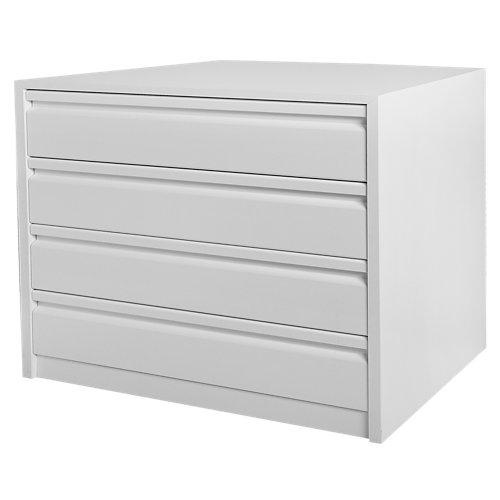 Cajonera 4 cajones serie montada blanco 72x80x50cm (altoxanchoxfondo)