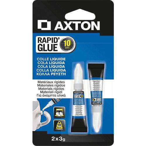 Pack 2 pegamentos líquido axton super rapid 3 gr