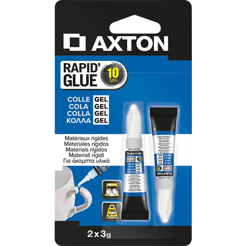 Pack 2 pegamentos gel axton super rapid 3 gr