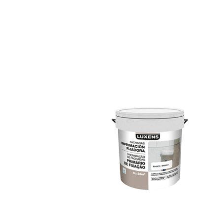 Imprimación fijadora para fachadas LUXENS blanco 4L