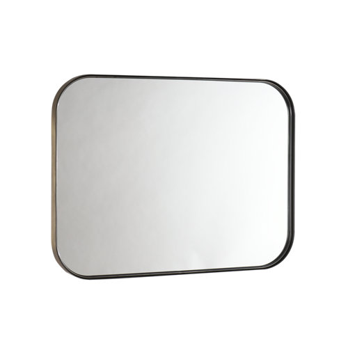 Espejo de baño kende amarillo / dorado 80 x 60 cm