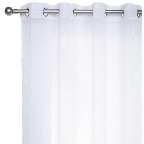 Visillo lol con motivo liso blanco de 280 x 140 cm
