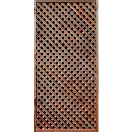 Celosía fija de madera marrón 90 x 180 cm