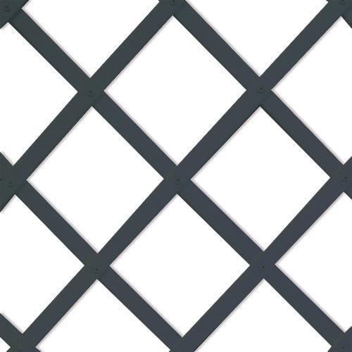 Celosía extensible de pvc gris 50x150 cm